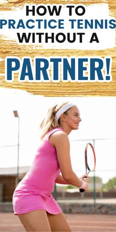 If you don't have a tennis partner to play with...no worries. There are many tennis drills and ways to practice tennis by yourself. Try these simple tennis drills to improve your serve, mental game, and ground Pro Tennis, Tennis Tips, How To Get Better, Tennis Clothes, Tennis Players, Aerobics, Drills, Get Well, Get In Shape