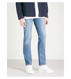 J Brand Kane Straight-fit Stretch-denim Jeans In Barva J Brand, Stretch Jeans, Denim Jeans, Stretches, Mens Fashion, Fitness, Pants, Shopping, Clothes