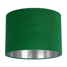 Put along side any colour cushions, curtains or furniture for a classic vintage look. Lighting is a great inexpensive way to really add to your interior design. Fabric Shades, Lamp Shades, Green Velvet Fabric, Crushed Velvet, Drum Shade, Bright Green, Pendant Lamp, Lightroom Presets, Vintage Looks