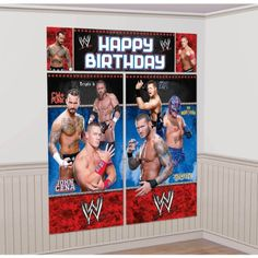WWE Wrestling Giant Scene Setter Wall Decorating Kit (5pc) Amscan http://www.amazon.com/dp/B008OJC1MY/ref=cm_sw_r_pi_dp_1oIAvb0FPGS94