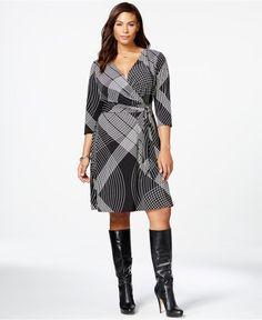 Flattering work dress - Plus Size Side-Tie Wrap Dress