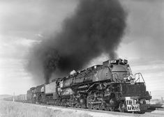 Big Boy No. 4014, soon to be restored, climbs Wyoming's Sherman Hill, behind helper No. 4021, on June 25, 1949.