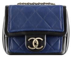 Chanel Small Flap in Two-Tone Calfskin Style code: A92210 Size: 5.3″ x 6.3″ x 2.4″ Price: $2,700 USD