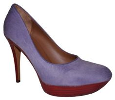 Cool Donald J Pliner Xenia Women's Lavendar Haircalf Platform Heel Pump Shoe 8.5 US