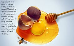 Egg and honey hair mask, that will beat the problem with split ends! Definitely trying it today!!!
