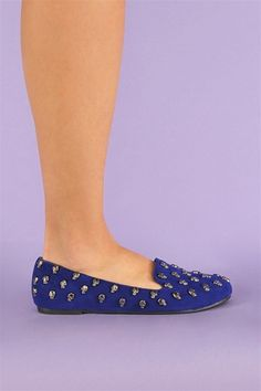 Happy Skull Flats - Blue