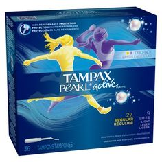 Tampax Pearl Active plastic Duopack Unscented « Lolly Mahoney