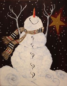 I am going to paint Snowman's Bliss at Pinot's Palette - Elk Grove to discover my inner artist!