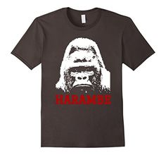 Men's Haram-be T Shirt 2XL Asphalt Haram-be T Shirt…