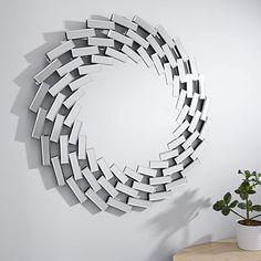 Furniturebox UK Venetian Large Silver Wall Round Circular Living Room Hallway Bathroom Bedroom Mirror FurnitureboxUK