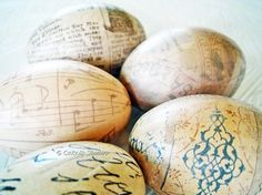 decoupage beautiful wooden eggs