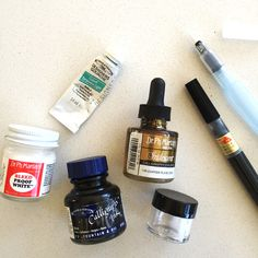 Calligraphy Supplies   ANNEROBIN.com - specifically ink recommendations