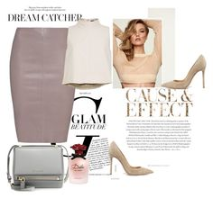"""""""nudy pink"""" by idk-frida on Polyvore featuring moda, Givenchy, Dolce&Gabbana, Jitrois, TIBI, Envi, Gianvito Rossi, Pink, luxury y Nudes"""