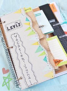 Make a diy vacation journal/bucket list for your kids' summer vacation!