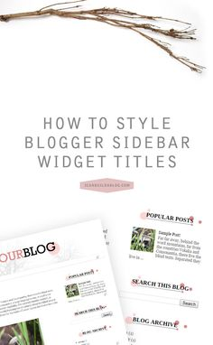 "Widget titles are the titles that appear above your sidebar widgets. Usually, you will simply type them into the ""title"" box in your widget editor and they are styled based on your chosen template. We're going to take it a little farther today though and add a custom background image behind our widget titles for …"