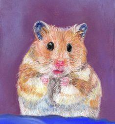 Hamster Painting 4 Hamster Painting in 2019 Painting