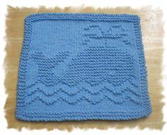 Knit Whale Dishcloth