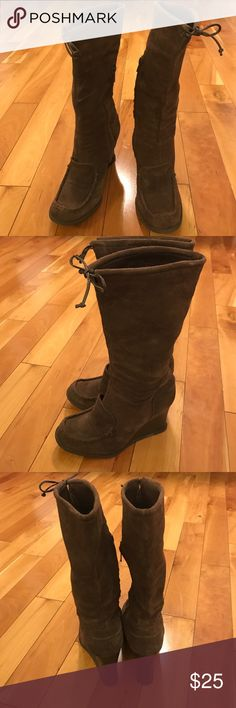 BCBG Girls Scarlett Boots My favorite boots. Made in Brazil. Leather upper. Size 6.5. Partly zipper. Used  manly inside. BCBGirls Shoes Ankle Boots & Booties