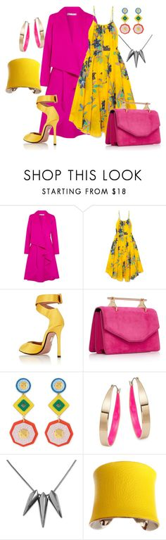 """Pink & Yellow"" by phatjuli ❤ liked on Polyvore featuring Oscar de la Renta, Diane Von Furstenberg, Samuele Failli, Henri Bendel, Design Lab and UNEARTHED"