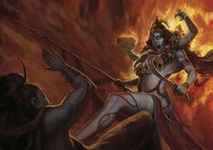 ArtStation - Age of Pantheons - Kali - Pantheon Induista , Mauro Alocci Indian Goddess Kali, Goddess Art, Durga Goddess, Indian Gods, Indian Art, Kali Hindu, Hindu Art, Maa Kali Images, Mother Kali