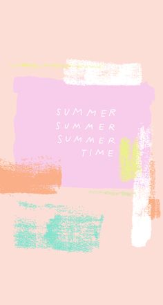 Summer Fruits Watercolor iPhone Wallpaper Lock Screen @PanPins