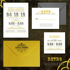 Retro Wedding Invitations DIY Wedding Invitation PDF or Printed for You. $39.99, via Etsy.