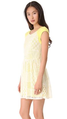 Designed with a crochet overlay, this jersey Ella Moss dress has a sweet, feminine feel. Crepe panels accent the cap sleeves, and the back c...