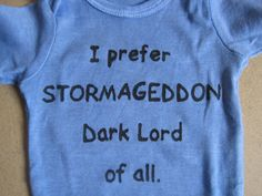 If Babies Named Themselves Stormageddon onesie by MithrilSheep, $26.99