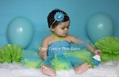 Check out this item in my Etsy shop https://www.etsy.com/listing/231757250/lime-green-turquoise-blue-tutu-or-dress