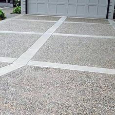 Concrete Driveway With Fine Pebbles