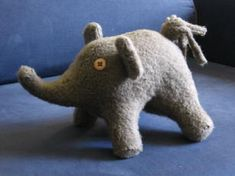 Wool Felt Stuffed Elephants *pics* My First Project Post ;p **TUTORIAL** - TOYS, DOLLS AND PLAYTHINGS