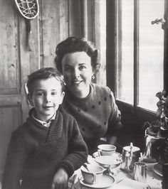 Deanna Durbin with her son, Peter David, in France, after she gave up fame and fortune to raise a family. This is so adorable!!