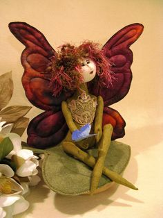 Cloth Doll E-Pattern 11 inch Fairy Butterfly Art by FruitfullHands