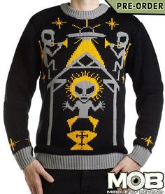 Alien Nativity Christmas Pullover Sweater – middleofbeyond