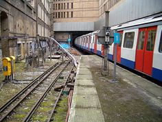 Disused track at Liverpool Street Station.