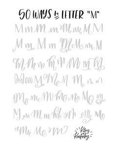 50 ways to write the letter M, how hand letter M, hand lettering tips, hand lettering examples, hand lettering inspiration