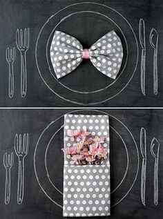 Cute Napkin ideas.. because we always have guests for dinner :) and I'm grateful we get to share good food and laughters with them