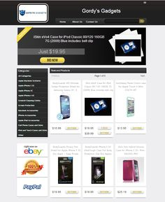 gordysgadgets eBay store with our Store Designer eBay design template!