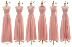 Chiffon Bridesmaid Dresses, Designer Bridesmaid Dress, Floor Length Maids Dresses
