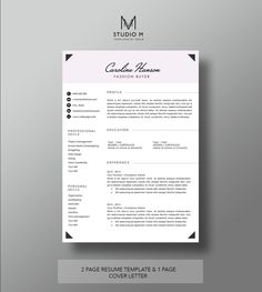 3 pack resume and cover letter template cv design hanson template by