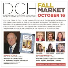 @LeSueurInteriors participating at the Decorative Center Houston Fall Market (Oct. 16)