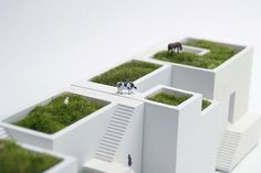 Ienami mini buildings. metaphys. japan.