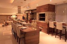 Decor Salteado - Blog de Decoração e Arquitetura : 20 Cozinhas com churrasqueiras modernas – veja modelos e dicas para ter um espaço gourmet dentro da sua casa/apartamento!
