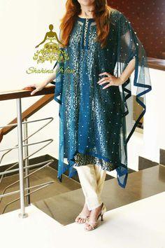Wow!! Pakistani Dress Design, Pakistani Outfits, Indian Outfits, Stylish Dresses, Nice Dresses, Casual Dresses, Fashion Dresses, Oriental Fashion, Indian Fashion
