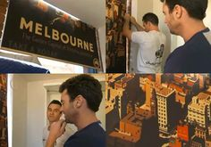 Are you watching Channel 9 The Block at the moment? If so, you may have seen our very own Brett give Chantelle and Steve a hand installing the vintage Melbourne poster blind in last night's episode. We are absolutely stoked and can't wait to see the blind in the first room reveal this Sunday night. If you missed it, you can view the episode on Jump In