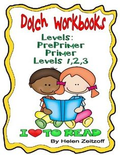 Workbooks for each level of Dolch Sight Words. Useful for classwork, homework, tutoring, etc. Lessons introduce 3-5 words with exercises to build recognition. Review units are included.Activities Galore:trace wordsunderline new wordsmatch words and picturesunscramble sentencesanswer riddleswrite words in word configuration shapesdo word searches and crossword puzzlesanswer questions by writing complete sentencesanswer yes or no questions  and much much more.