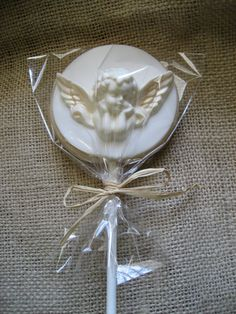 Cupid Angel Sugar Cookie - Sugar Cookie  Pops Favors - Weddings - First Communion -. $36.00, via Etsy.