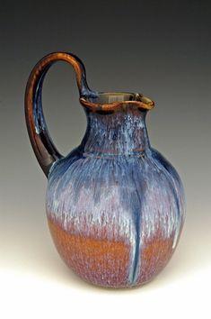 Small Pitcher by Bill Campbell Glazes For Pottery, Ceramic Pottery, Pottery Art, Pottery Ideas, Painted Pottery, Ceramic Pitcher, Ceramic Clay, Ceramic Jugs, Bill Campbell Pottery