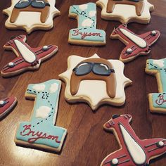Vintage Aircraft – The Major Attractions Of Air Festivals - Popular Vintage First Birthday Cookies, 1st Birthday Themes, Baby Boy Birthday, Boy Birthday Parties, 2nd Birthday, Birthday Ideas, Vintage Airplane Party, Vintage Airplanes, Airplane Cookies
