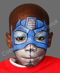 optimus prime face paint